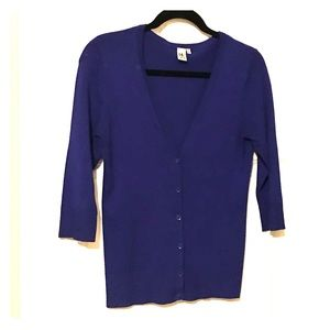 14th & Union blue cardigan - M